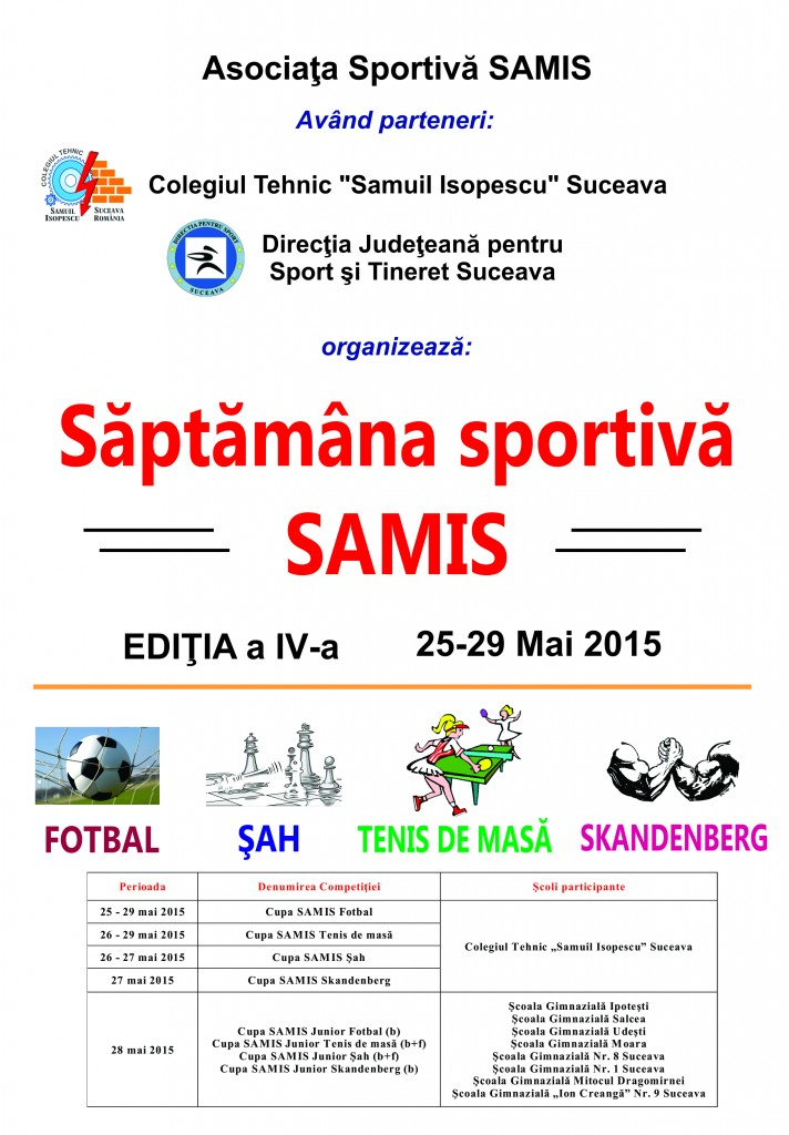cupa samis junior 2015